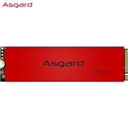 Asgard AN3 RED SERIES M.2 ssd M2 512gb PCIe NVME 512GB 1 تيرا بايت محرك الحالة الصلبة 2280 قرص صلب داخلي hdd للكمبيوتر المحمول مع ذاكرة التخزين المؤقت