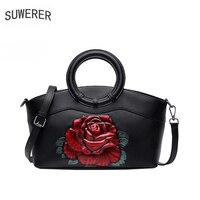 SUWERER Genuine Leather women bag fashion designer bags famous brand women bags 2020 luxury handbags women bag designer tote bag