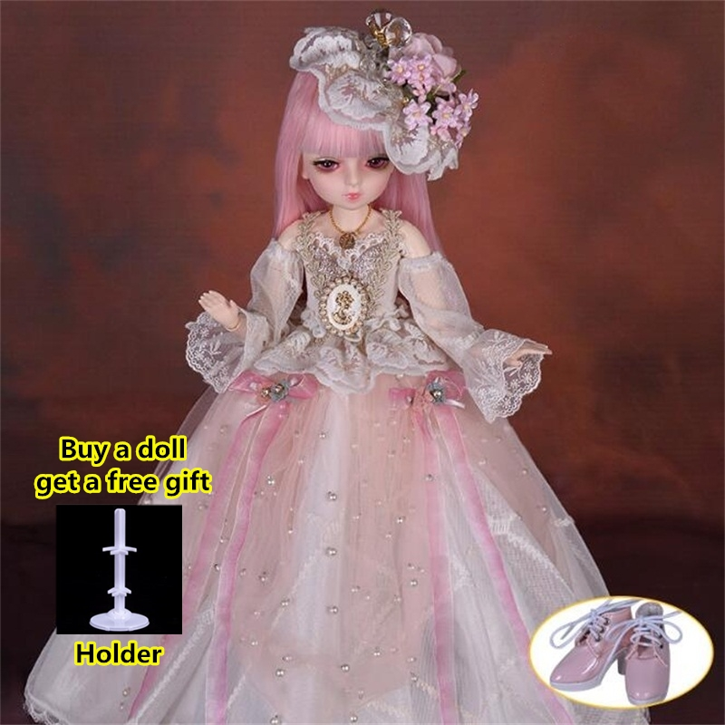 18 Movable Joints BJD Doll 1/4 With Full Outfits Wigs Shoes official Makeup Ball Jointed Dolls collection kids toys Christmas gi 9