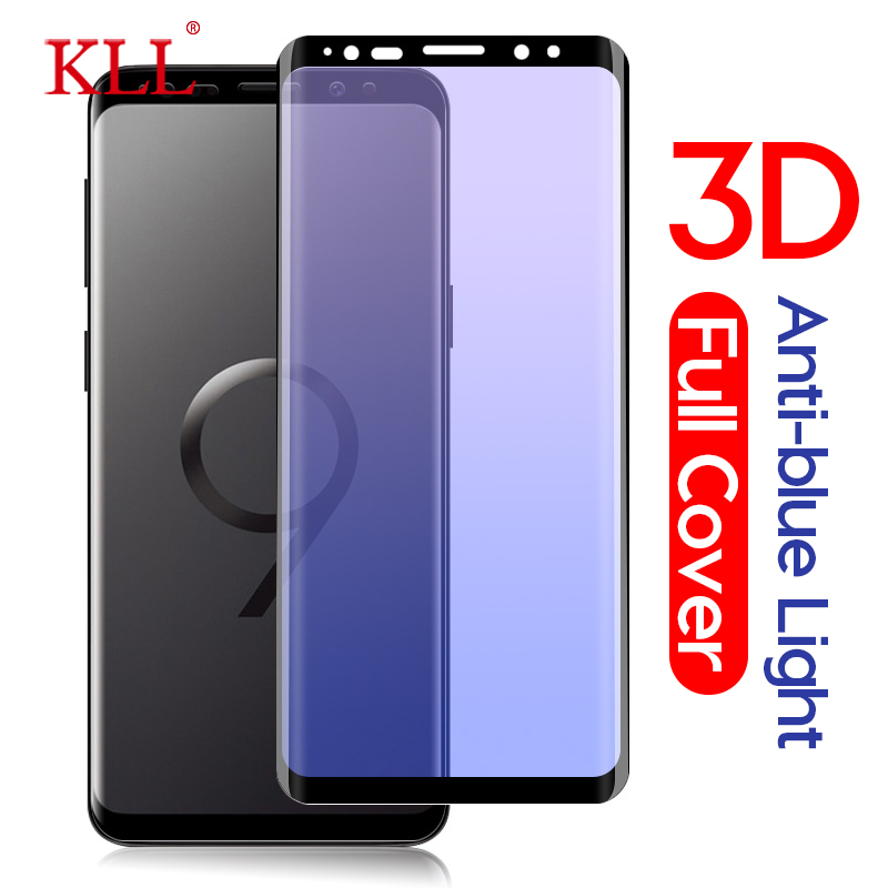 Anti-blue Light 3D Curved Full Cover Tempered Glass for Samsung Galaxy Note 9 8 S9 S8 Plus S7 S6 Edge Plus Screen Protector Film image