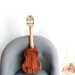 """Image 2 - Enya K5 Ukulele 5A Tijger Streep Koa Ukelele 26 """"23"""" Hawaii Gitaar 4 String Mini Gitaar Muziekinstrumenten professionals"""