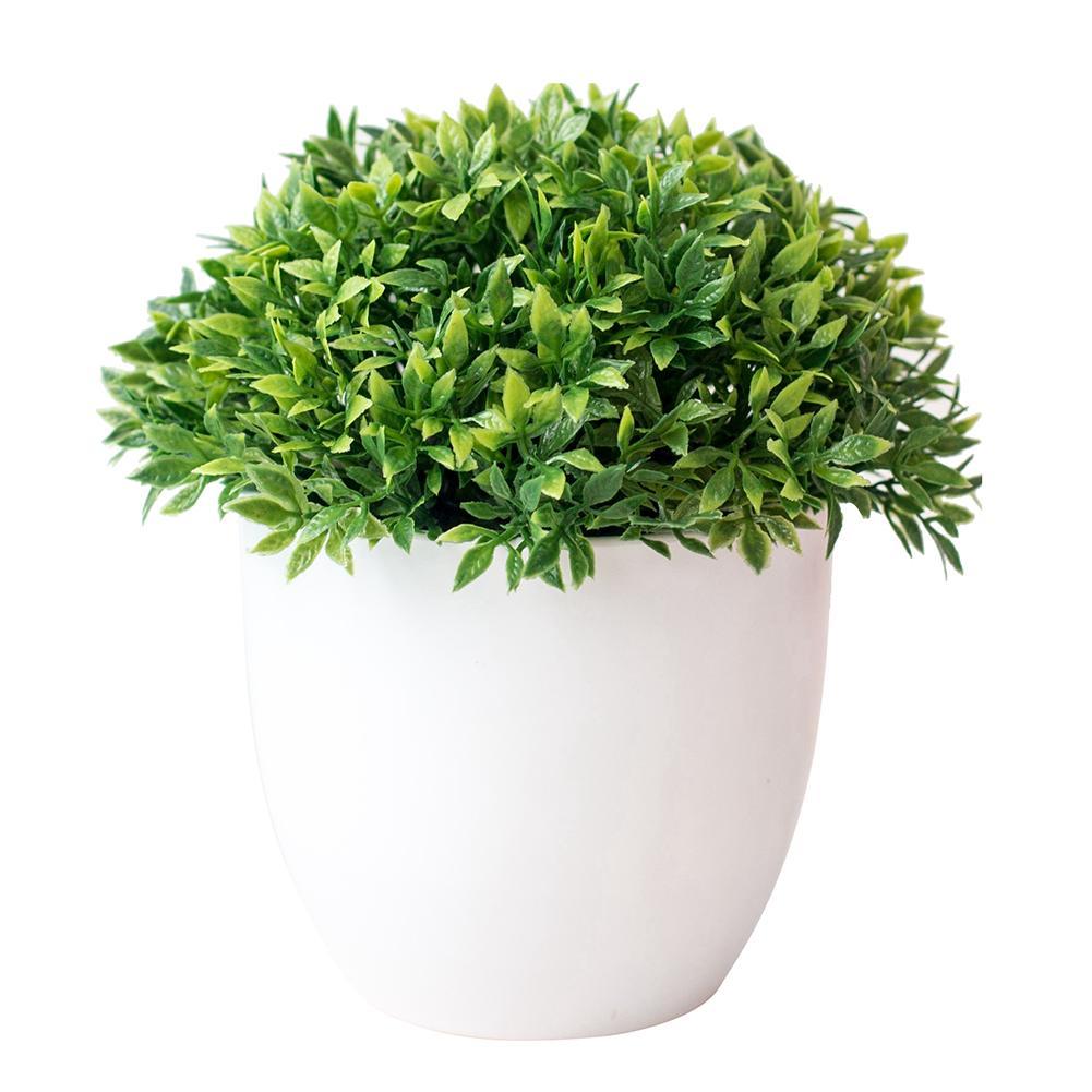 Plastic Pots Artificial Ball Plant/Flowers/Grass Wedding/Christmas Balcony Bonsai Autumn Home Decor