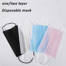 Máscara protetora descartável respirador 50 pces 1 camada/2 camada fina à prova de poeira Anti-PM2.5 respirável sazonal máscara de proteção solar mascaras