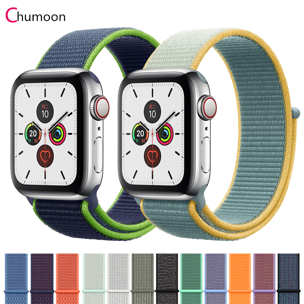 Strap For Apple Watch Band 44 Mm 40mm Iwatch Band 42mm 38mm Sport Loop Nylon Applewatch Band Correa Apple Watch 38 Mm 5 4 3