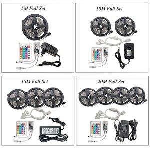 Image 5 - IR WIFI LED 스트립 방수 5M 15M 20M RGB Led 스트립 빛 5050 RGB 유연한 조명 리본 테이프 컨트롤러 어댑터