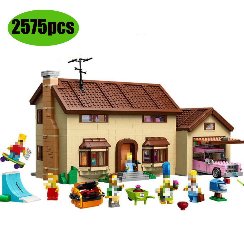 16005 Kwik-E-Mart Simpsons House Model Building Blocks Bricks Compatible With Lepining 71006 71016 Toys Gift For Children