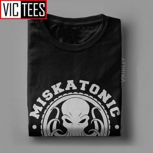 Miskatonic Университет Мужская футболка Некрономикон вызов Ктулху ктулу Лавкрафт новинка футболка хлопок большой размер