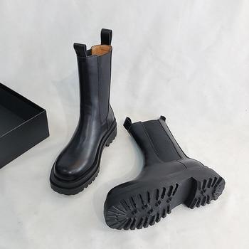 цена Platform Ankle Boots Women 2019 Heel Platform Boots Luxury Brand Designer Chelsea Boots Women Martin Boots Winter Shoes онлайн в 2017 году