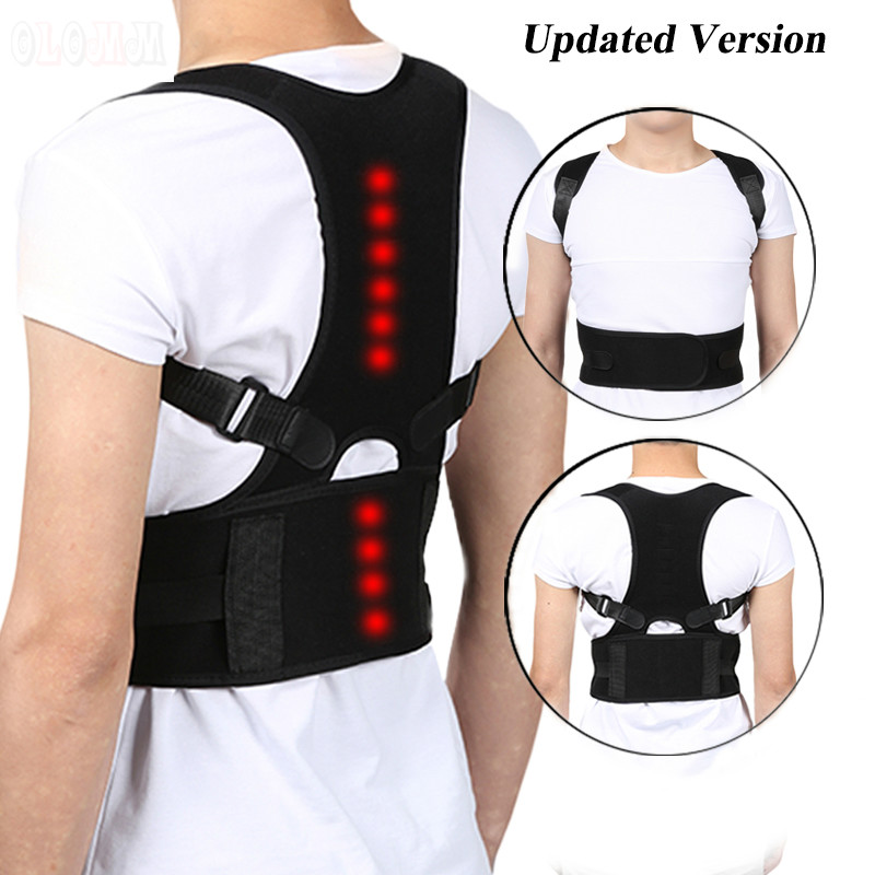 Shoulder Back Support Corset Adjustable Posture Corrector Hump Correction Strap Magnetic Therapy Lumbar Brace For Men And Women