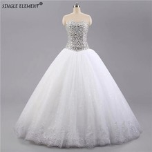 100% Real Photo Vintage Ball Gown Wedding Dresses Handmade Crystals Beads Bridal Gowns