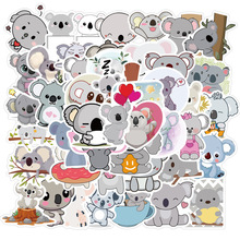 50pcs Cartoon Cute Koala Stickers for Suitcase Skateboard Laptop Luggage Fridge Phone Car Styling DIY Decal Sticker