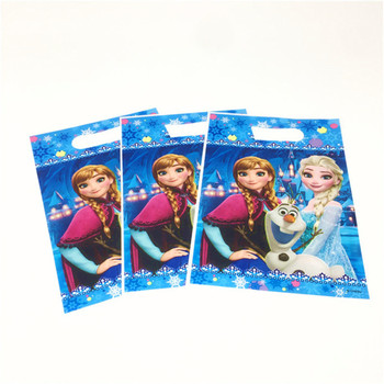 30/36/48/60/66PCS Disney Frozen Anna and Elsa Gift bags kids Baby Birthday Party Child Candy Dessert wedding Decoration Loot Bag