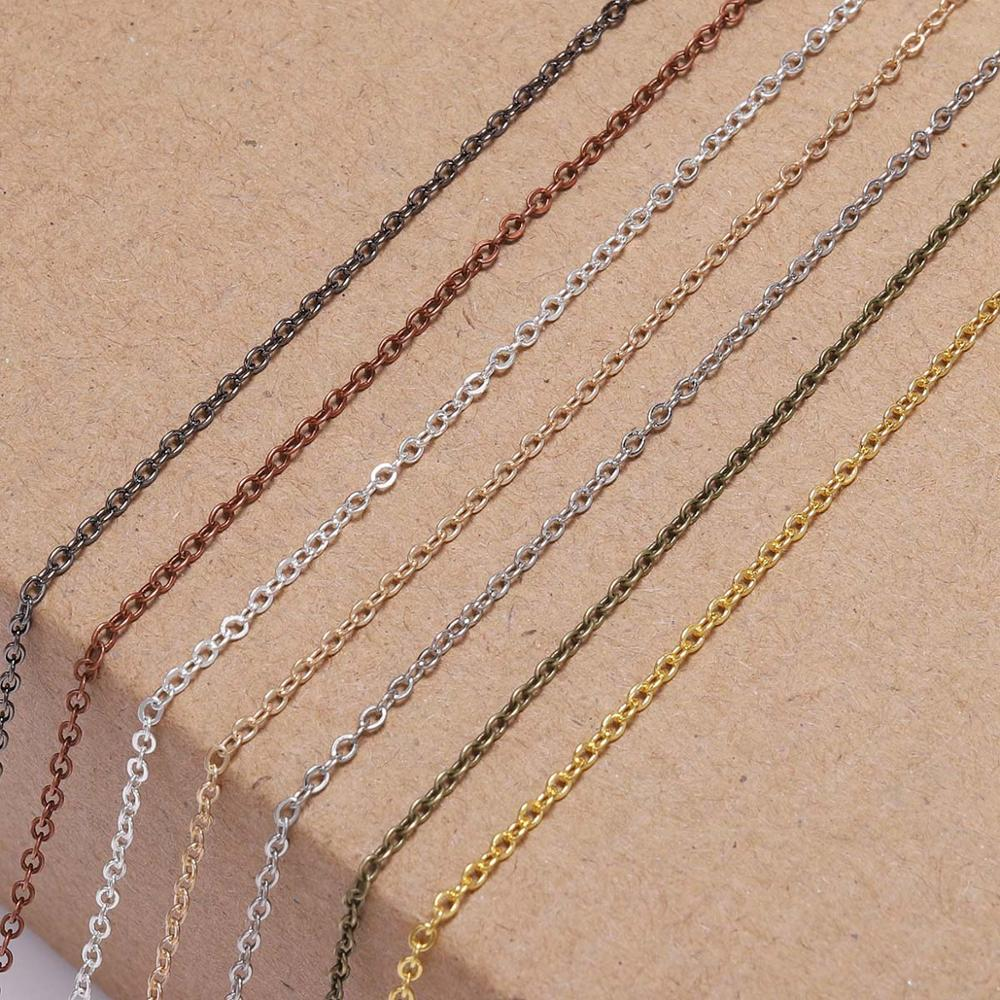5 m lot Silver Gold Bronze Plated Necklace Chain For Jewelry Making Findings DIY Necklace Chains Materials Handmade Supplies in Jewelry Findings Components from Jewelry Accessories
