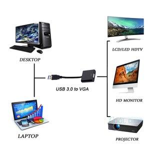 Image 2 - ¡Novedad de 2020! Cable adaptador de pantalla USB 3,0 a vídeo VGA de alta calidad, Adaptador convertidor de pantalla múltiple para PC, portátil, Windows 7/8/10