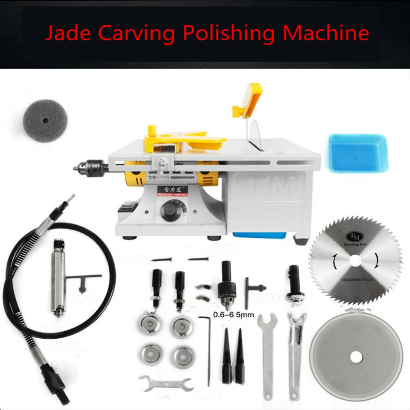 Multifunction Mini Table Saw Stone Polisher  Jade Engraving Machine Grinding Machine Table Saws Jade Cutting Machine 220V