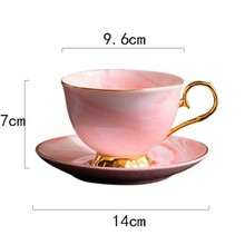 Hot New Marble Phnom Penh Ceramic Coffee Cup and Saucer Set Afternoon Tea Cup Lovers Gifts(China)