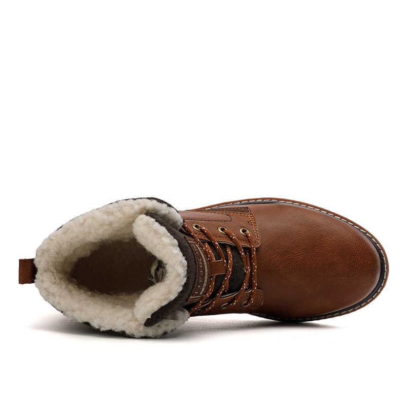VESONAL Merk Casual Mannen Laarzen Voor Volwassen Winter Warme Korte Pluche Enkel Westerse Laarzen Schoeisel Sneakers Mannen Schoeisel Hoge Kwaliteit