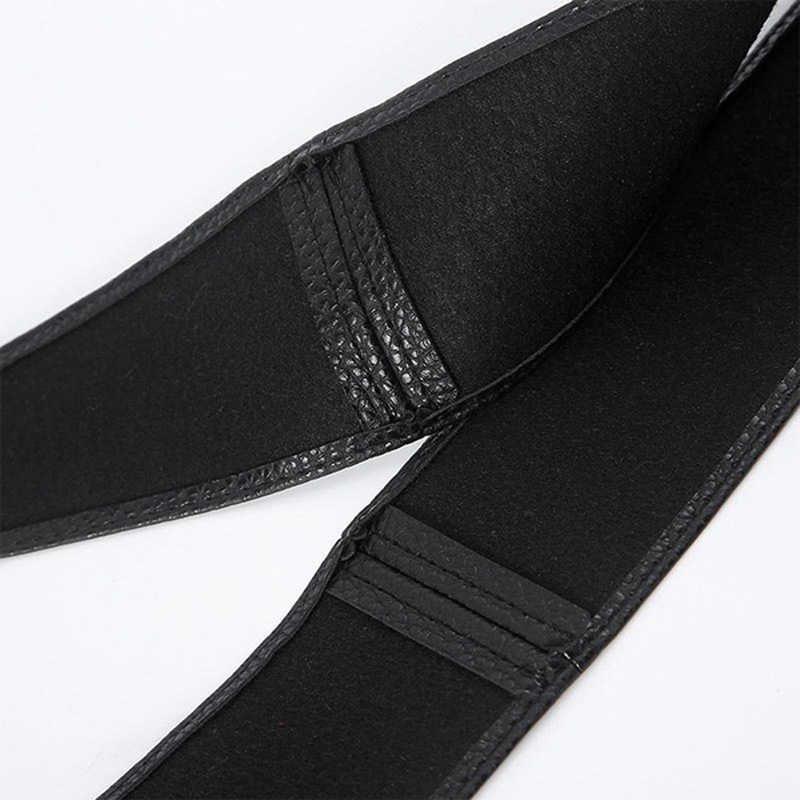 Femmes Faux cuir robe ceintures manteau décoré à lacets ceinture mode Cummerbunds Femme anneau ceinture Corset Femme large ceinture