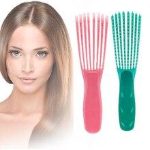 מנטה ירוק/ורוד שיער מברשת קרקפת עיסוי מסרק נשים Detangle מברשת שיער מסרק בריאות להפחית עייפות 1pc