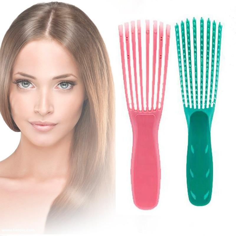 Mint green/Pink Hair Brush Scalp Massage Comb Women Detangle Hairbrush Comb Health Care Reduce Fatigue 1pc