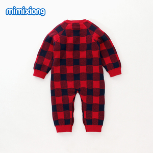 Image 2 - Baby Rompers Christmas Newborn Boys Pajamas Jumpsuits Autumn Long Sleeve Infant Kids Girls Overalls Winter Children Knit Clothes