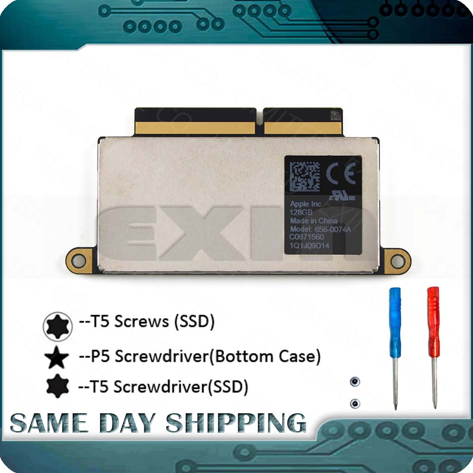 """Used Laptop SSD 128GB for MacBook Pro Retina 13.3"""" A1708 128GB PCI-E SSD Late 2016 Mid 2017 EMC2978/3164 656-0066A 656-0074A(China)"""
