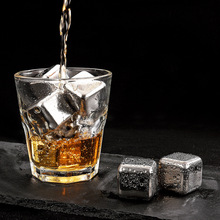 Yooap 27mm stainless steel frozen ice bar bar coffee drink whiskey ice grain metal ice wine stone wine set майка print bar ice princess