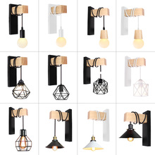 Hanging Wall Light Fixture Artistic Metal Iron Wall Lamp Decor For Bedside Bedroom Livingroom Restaurant Bar Lighting Sconce