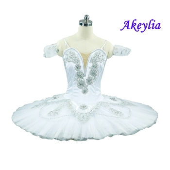 White Swan Lake Ballet Tutu Competions Dying Classical Performance Professional Pancake Tutus Stage Costumes women