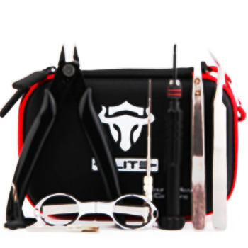 Tauren Tool Kit Elite v1 Case Black DIY Tool Kit E Cigarette  All-in-one DIY Tool for RTA RBA RDA Atomizer Tank Vaporizer Mod цена 2017