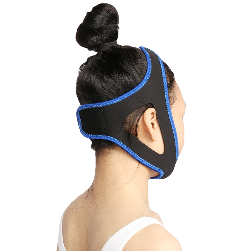Unisex Triangular Sleep Anti Snoring Chin Strap Adjustable Sleep Apnea Belt Jaw Dislocation Support Belt Health Care Too QQ85
