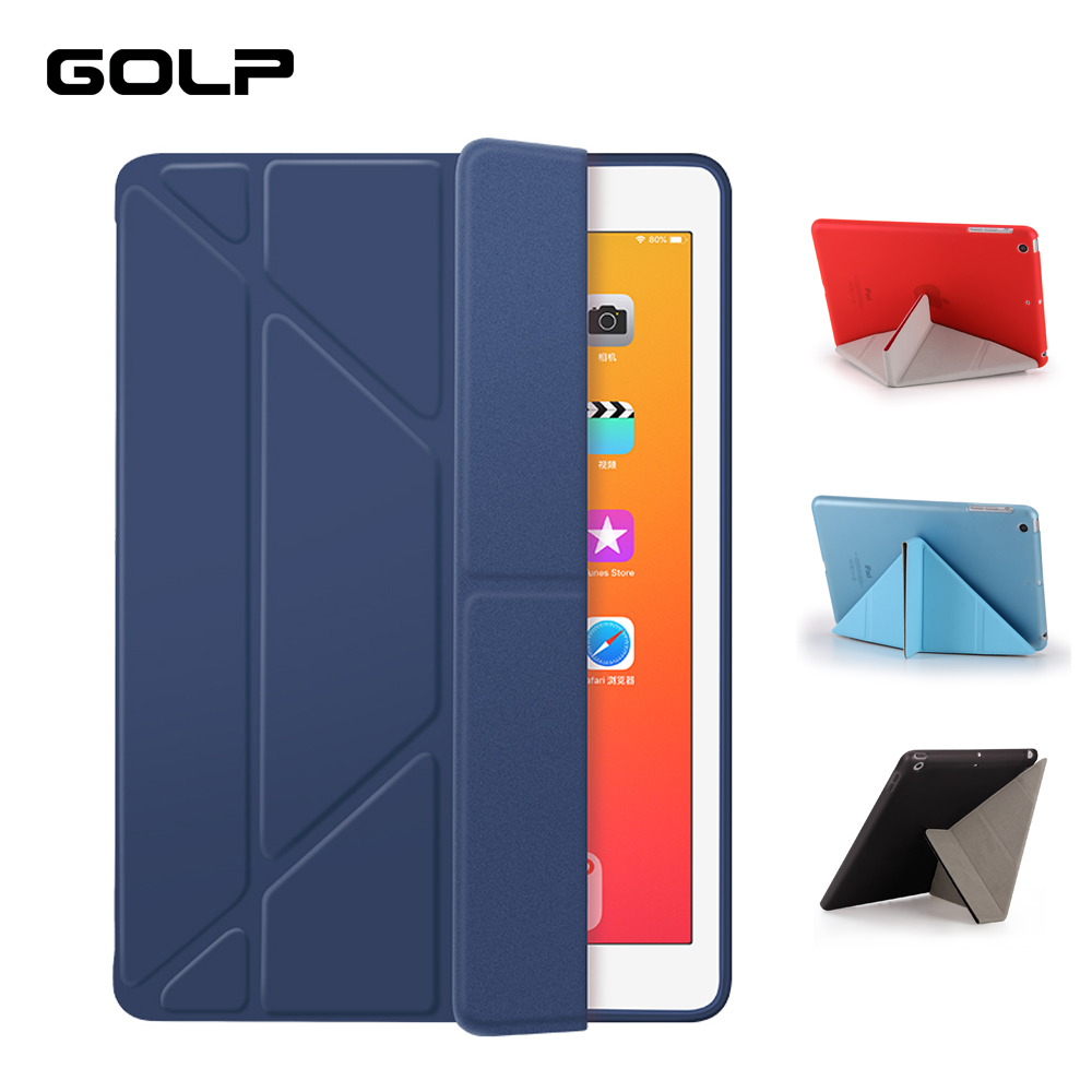 GOLP Case For IPad Mini 5 2019 Case PU Leather And Soft Back Flip Stand Auto Sleep/Wake Up Smart Cover For IPad Mini 4 5 2019