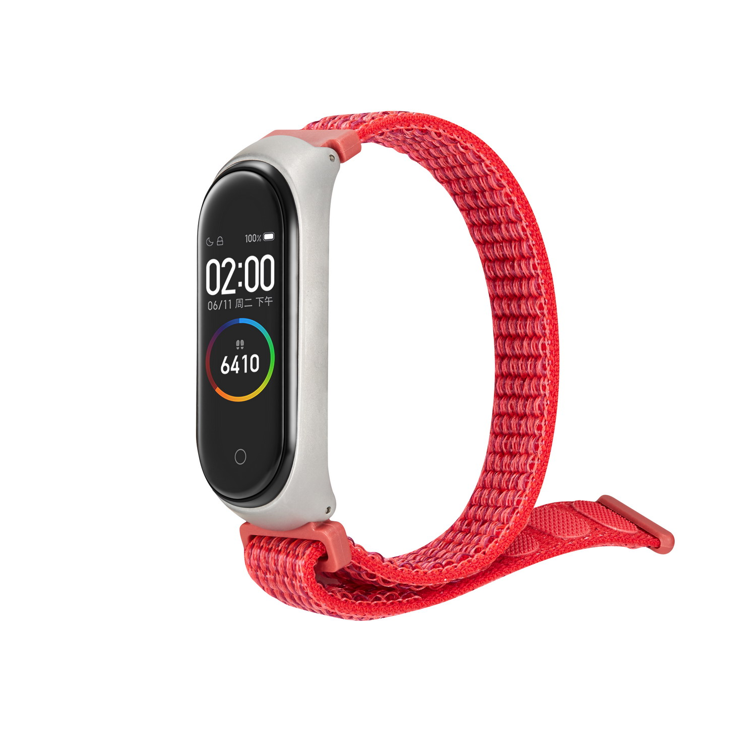 Image 5 - Nylon loop replaceable Bracelet for Xiaomi Mi band 3 Sports Wristband Breathable Strap for Xiaomi Miband 4 smart watch Accessori-in Smart Accessories from Consumer Electronics
