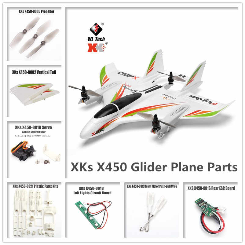 WLtoys XKS X450 RC Glider Plane Spare Parts Motor/Circuit board/Servo/Tail Blades/Screw/Shell/Propeller/Receiver/ESC