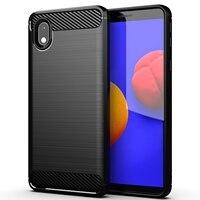Funda lujosa de fibra de carbono A prueba de golpes para Samsung Galaxy, carcasa de lujo con textura cepillada para teléfono Samsung Galaxy A 12 9 7 6 10 02 S E 8 Plus 3 01 Core