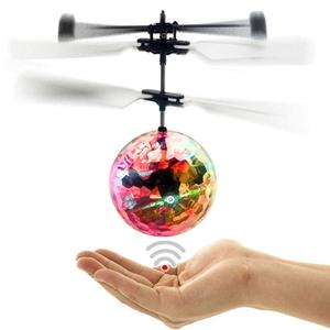Electric RC Flying Ball Luminous Kid's Flight Balls Infrared Induction Aircraft Remote Control Toys Flash LED Light Plane Toys(China)