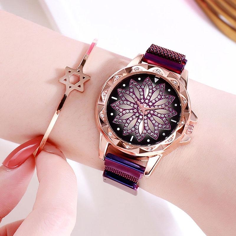 New Brand Luxury Quartz Women Flower Watch Women 39 s Clock Top Luxury Female WristWatches Waterproof Ladies Dress Relogio Feminino in Women 39 s Watches from Watches