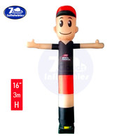 Skyerz Inflatable Advertising Sky Air Puppet Wacky Waving Arm moving Tube Man with Blower, 10 Feet, 16 inches tube inflatables