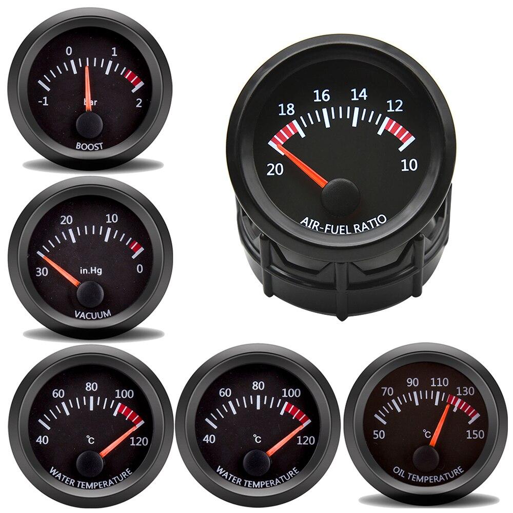 52MM Gauge Holder Water Temp/Oil Temp/Voltmeter/Oil Press/Vacuum/Boost Gauge/Air Fuel Ratio Gauge With Sensor Fit for 12V
