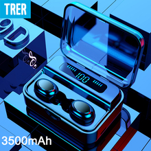 TRER Wireless Headphones Bluetooth TWS 5.0 9D Bluetooth Earphone LED Display Stereo Earbuds