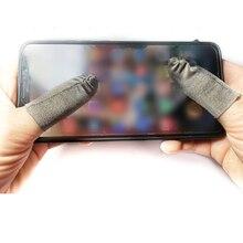 1 пара дышащих пальцевых чехлов для мобильных игровых контроллеров для сенсорных экранов, перчатки с защитой от пота для мобильных игр