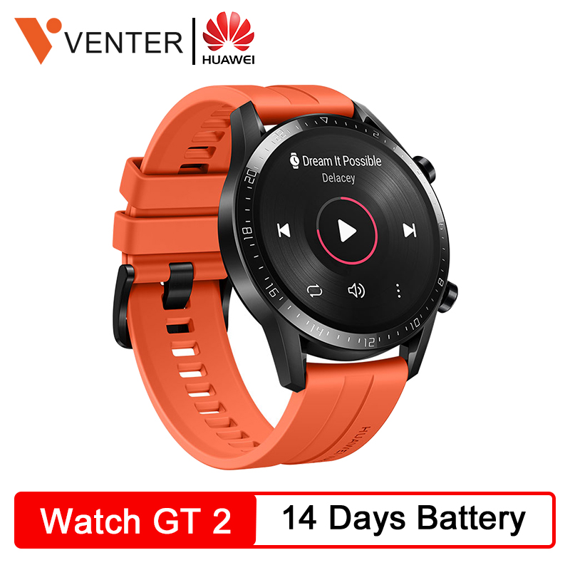<font><b>Huawei</b></font> <font><b>Watch</b></font> <font><b>GT</b></font> <font><b>2</b></font> GT2 Smartwatch Bluetooth 5.1 Fitness Tracker 14 Days Battery Life Phone Call Heart Rate Monitor Android GPS image