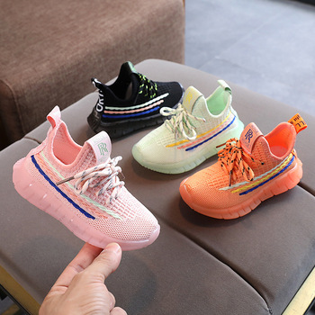 цены Fashion Girls Boys Shoes Children Sneakers Shoes Air Mesh Breathable Comfortable With Soft Sports Shoes For Kids New Autumn 2020