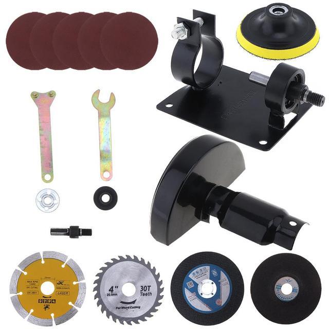 17 pièces/ensemble 13mm perceuse électrique coupe siège outil de Conversion accessoires pour meulage/coupe carrelage/métal polissage