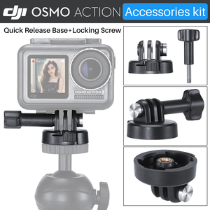 Image 4 - ULANZI Quick Release Base Mount W 3M Adhesive Tape Sticker Adapter For Gopro Hero 7/6/5 DJI Osmo Action Camera Accessories Kit
