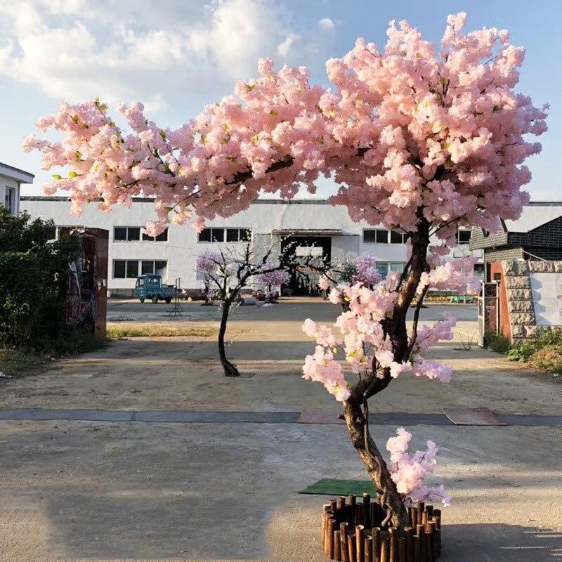 20 piezas Rama de cerezo Rosa cereza decoración boda arco flor de cerezo actividad fiesta melocotón árbol flor Rama - 2
