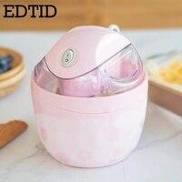 EDTID 미니 DIY 전체 자동 소프트 아이스크림 기계 가정용 냉동 과일 디저트 메이커 셔벗 요구르트 아이스크림 메이커 1.2L EU