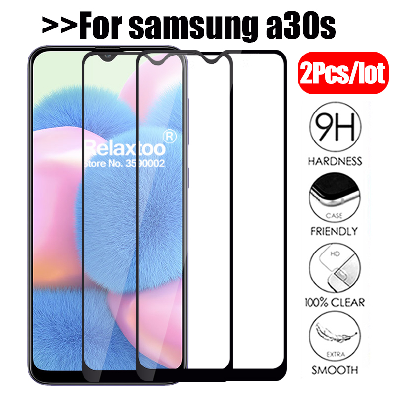 2Pcs Tempered Glass For Samsung Galaxy A30s Screen Protector On The For Samsung A30s 2019 A 30s A307F A307 SM-A307F Glass Film