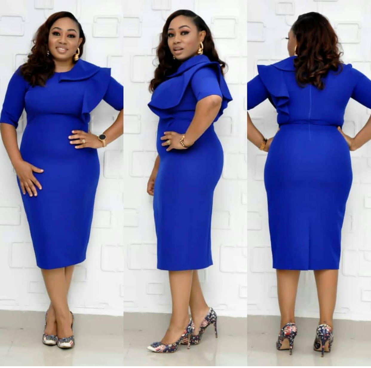 2019 New Autumn Elegent Fashion Style African Women Beauty Plus Size Dress L-XXL
