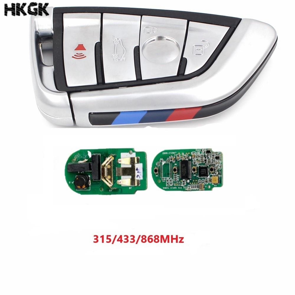 4 Button For BMW F Series CAS4+/FEM 2011-2017 White Modified Smart Remote Key Fob 315MHz/434MHz/868MHz